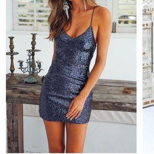 Hello Molly sparkly blue dress